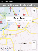 Removing selected markers from Google Maps
