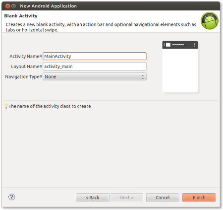 Enter MainActivity details
