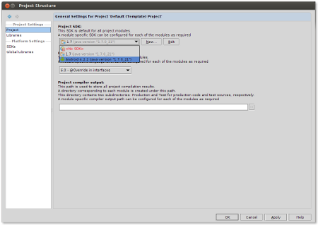 Select Project SDK