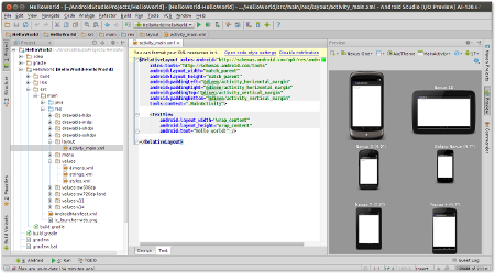 Previewing the application layout