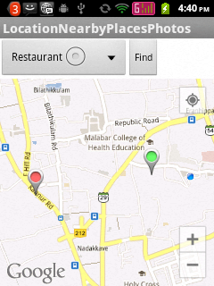 Showing nearby restaurants