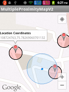 Adding proximity alerts to Google Maps