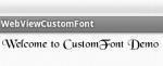Custom Font Demo for WebView