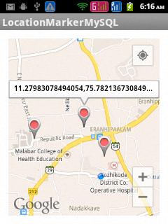 Storing Google Maps Android API V2 marker locations in MySQL