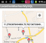 Saving marker location in MySQL using PHP Script
