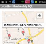 Saving marker location in MySQL using PHP Script