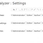 TrafficAnalyzer - Settings