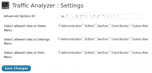 TrafficAnalyzer - Settings