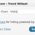 TrafficAnalyzer-Trend Widget Settings